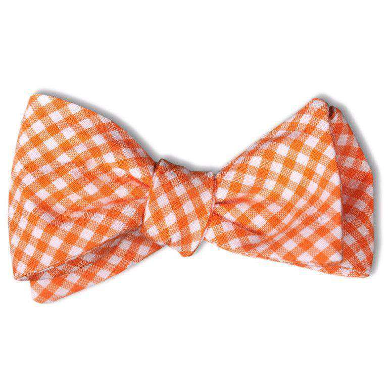 Bow Ties - Gingham Bow Tie In Endzone Orange By High Cotton
