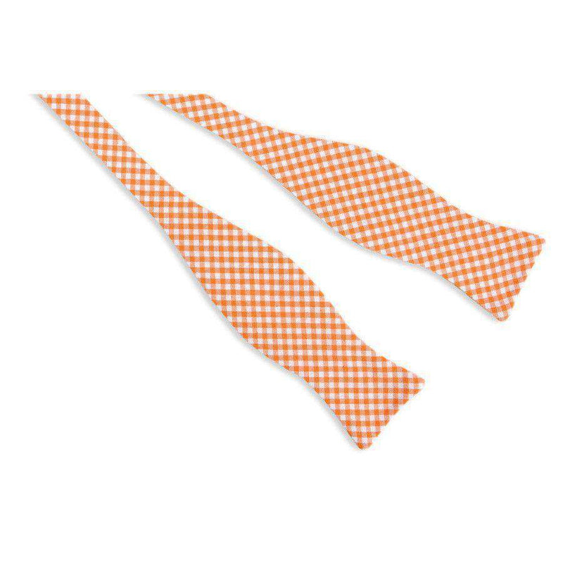 Gingham Bow Tie in Endzone Orange by High Cotton