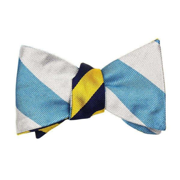 Gold/Navy and Light Blue/Silver Bow Tie by Social Primer - FINAL SALE