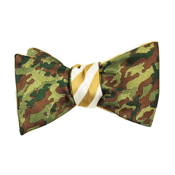 Gold/White and Camo Bow Tie by Social Primer - FINAL SALE