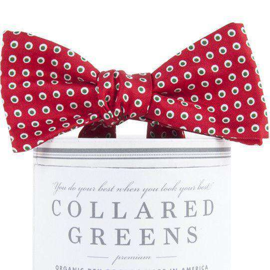 Holiday Dots Bow Tie in Red by Collared Greens