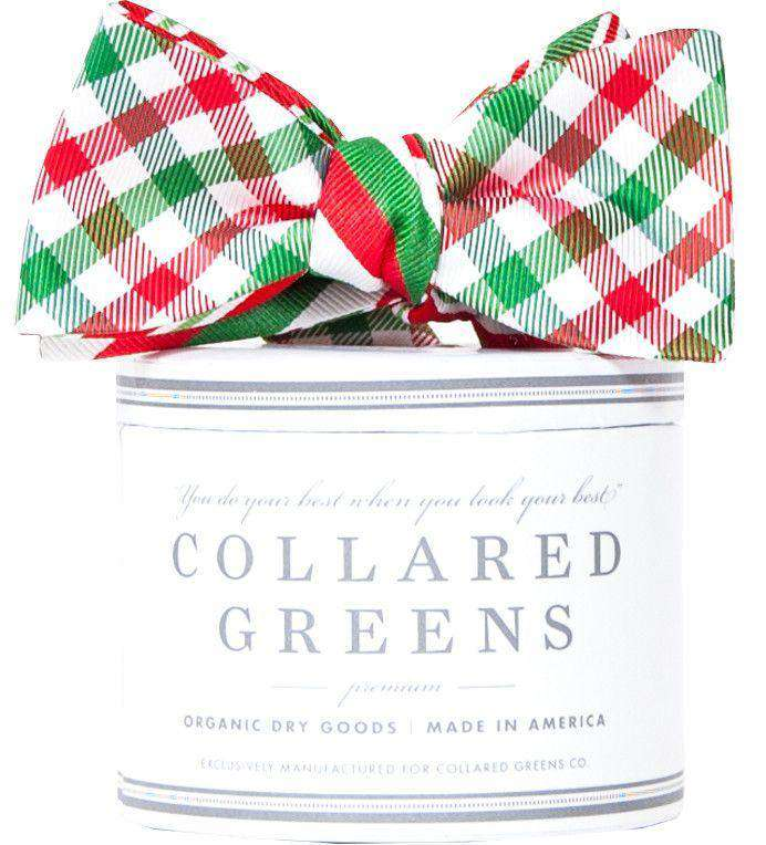 Bow Ties - Holiday Quad Bow In Red/Green By Collared Greens