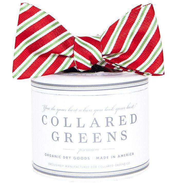 Bow Ties - Holiday Stripes Bow In Red By Collared Greens