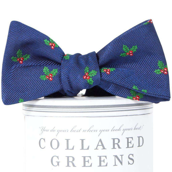 Holly Jolly Bow Tie in Navy by Collared Greens