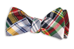 Bow Ties - Honey Fitz Patchwork Madras Bow Tie By High Cotton