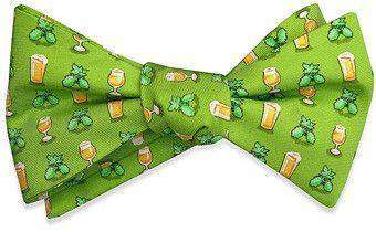 Bow Ties - Hoppy Hour Bow Tie In Lime By Bird Dog Bay