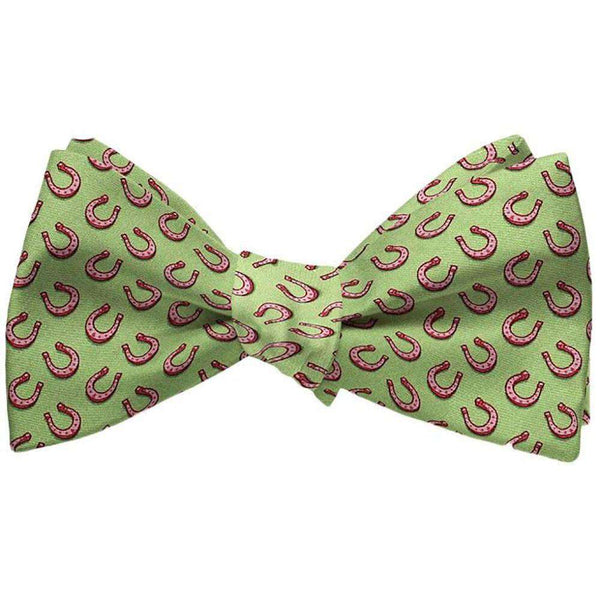 Bow Ties - Horseshoe Heaven Bow Tie In Lime By Bird Dog Bay