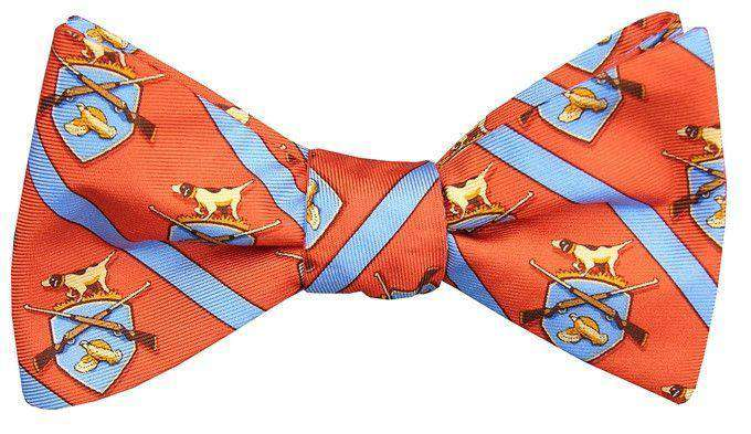 Bow Ties - Hunt Club Bow Tie In Orange By Bird Dog Bay