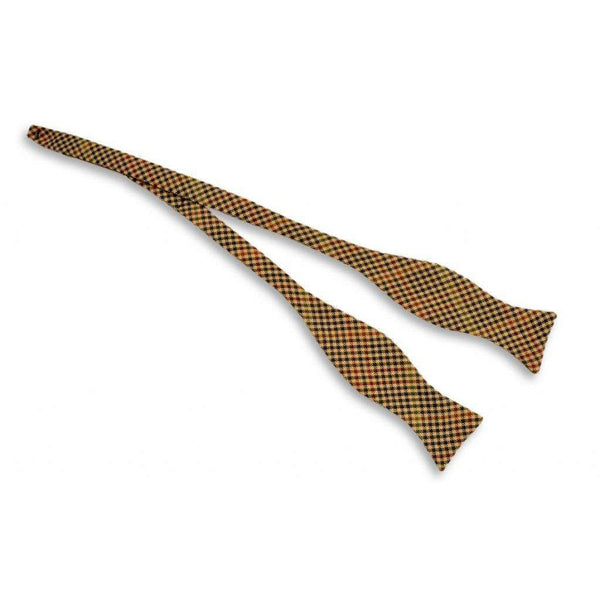 Hunter Guncheck Bow Tie in Tan by High Cotton
