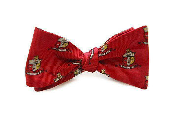 Kappa Alpha Psi Bow Tie in Crimson by Dogwood Black - FINAL SALE