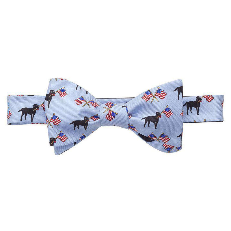 Bow Ties - Labs & Flags Bow Tie In Blue By Southern Proper