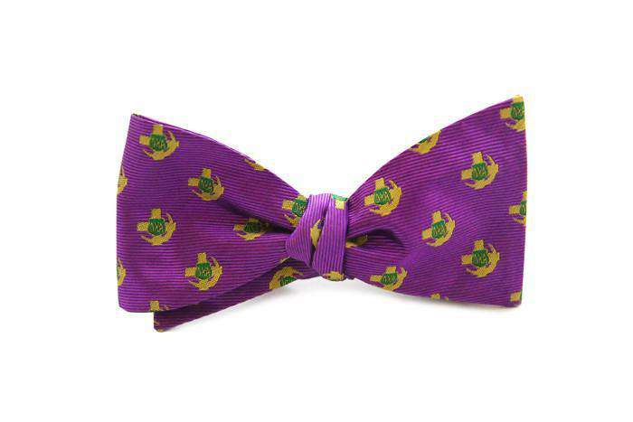 Bow Ties - Lambda Chi Alpha Bow Tie In Purple And Gold By Dogwood Black
