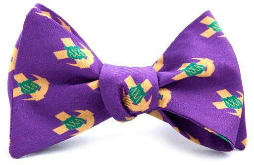 Bow Ties - Lambda Chi Alpha Bow Tie In Purple By Dogwood Black