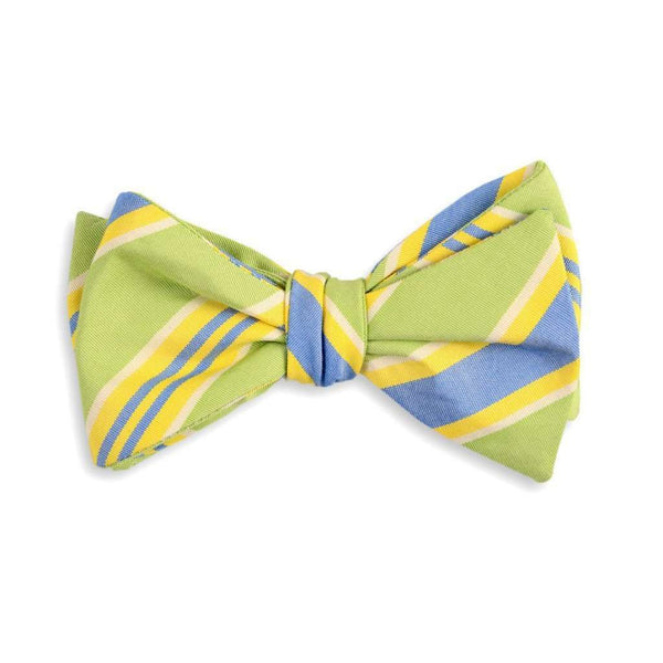 Bow Ties - Lime Maybank Stripe Bow Tie By High Cotton