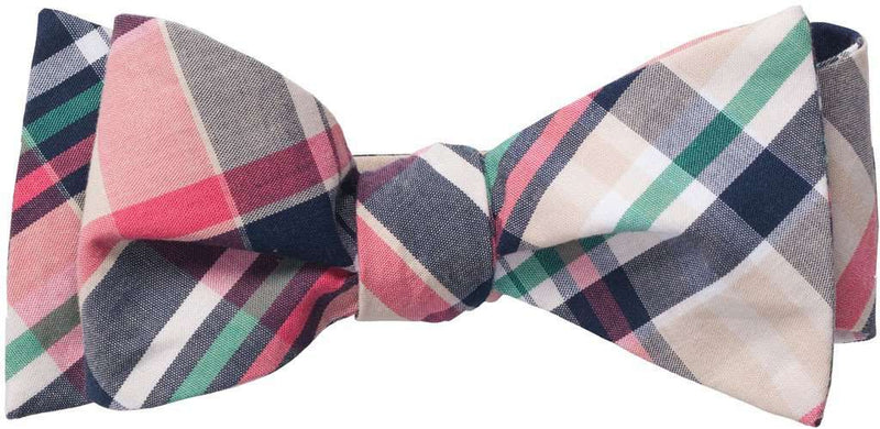 Bow Ties - Madras Bow Tie In Navy By Southern Proper