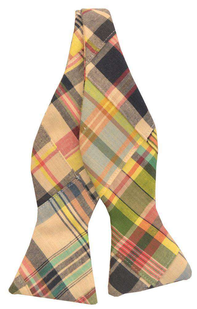 Bow Ties - Madras Patchwork Plaid Bow Tie In Great Island By Just Madras