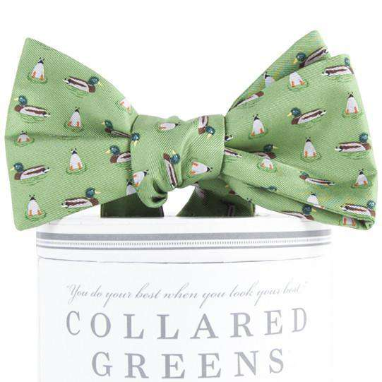 Mallard Bow Tie in Green by Collared Greens
