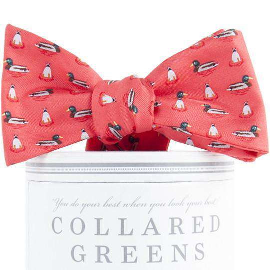 Mallard Bow Tie in Salmon by Collared Greens