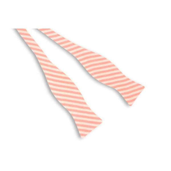 Bow Ties - Melon Linen Stripe Bow Tie By High Cotton