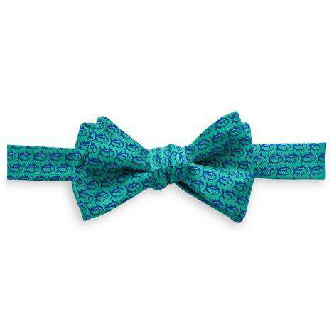 Bow Ties - Men's School Of Fish Bow Tie In Bermuda Teal By Southern Tide