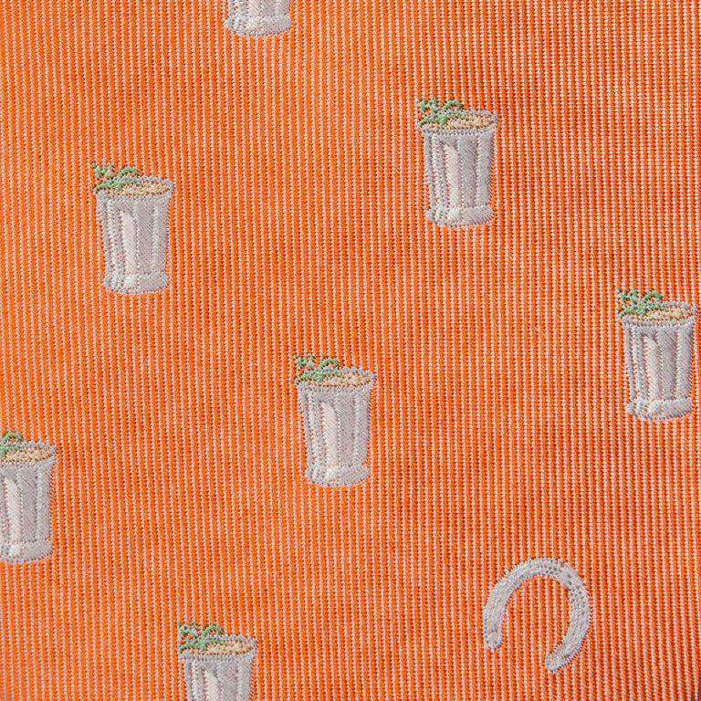 Mint Julep and Horse Shoe Bow Tie in Orange by Southern Proper