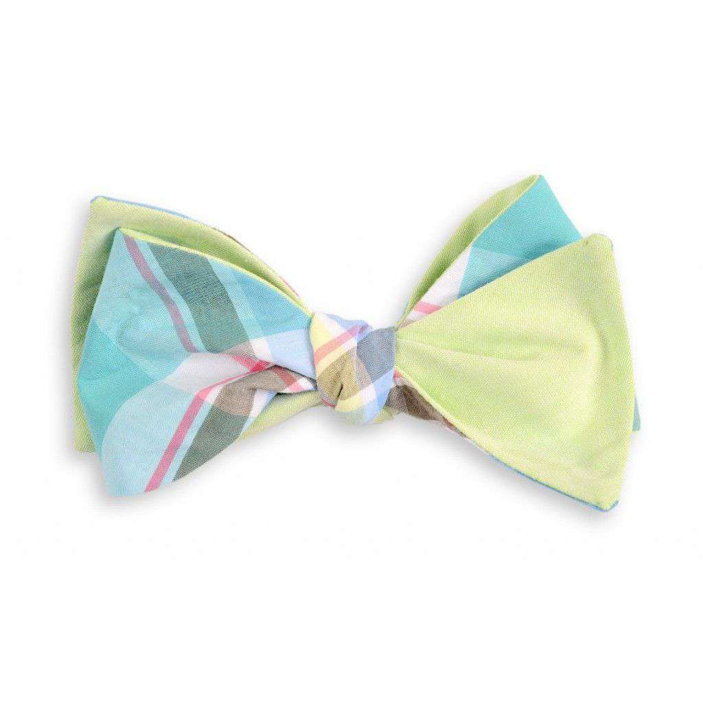 Bow Ties - Mint Julep Madras Plaid Reversible Bow Tie By High Cotton