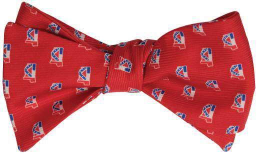 Bow Ties - Mississippi Traditional Bowtie In Red By State Traditions And Southern Proper
