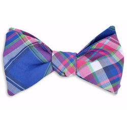 Bow Ties - Moonlight Madras Bow Tie By High Cotton - FINAL SALE