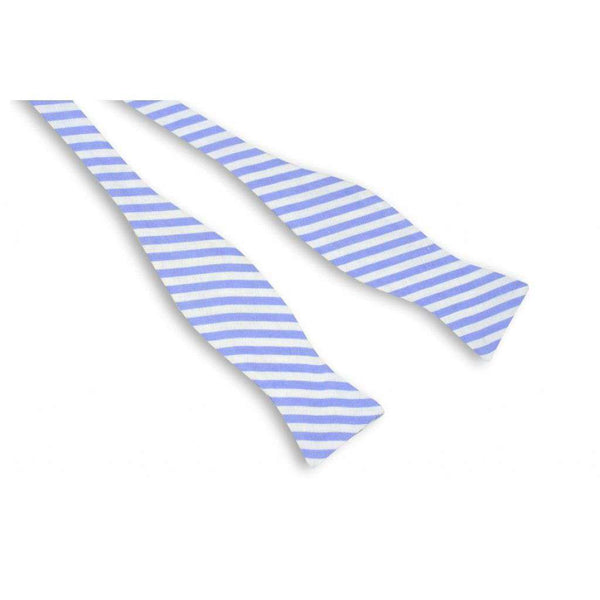 Bow Ties - Nautical Blue Stripe Bow Tie In Blue/ Light Purple By High Cotton