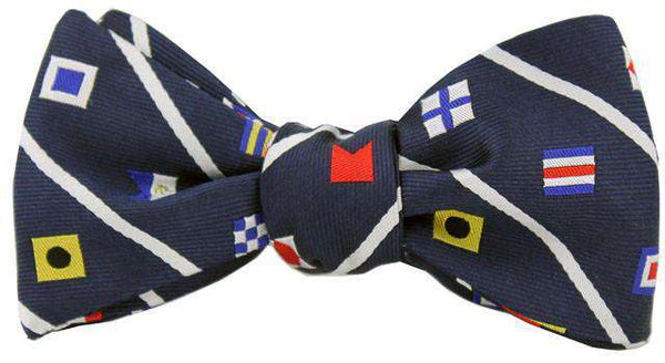 Nautical Signal Flag Bow Tie in Navy by Anchored Style - FINAL SALE