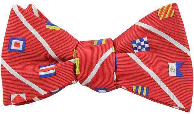 Nautical Signal Flag Bow Tie in Red by Anchored Style - FINAL SALE
