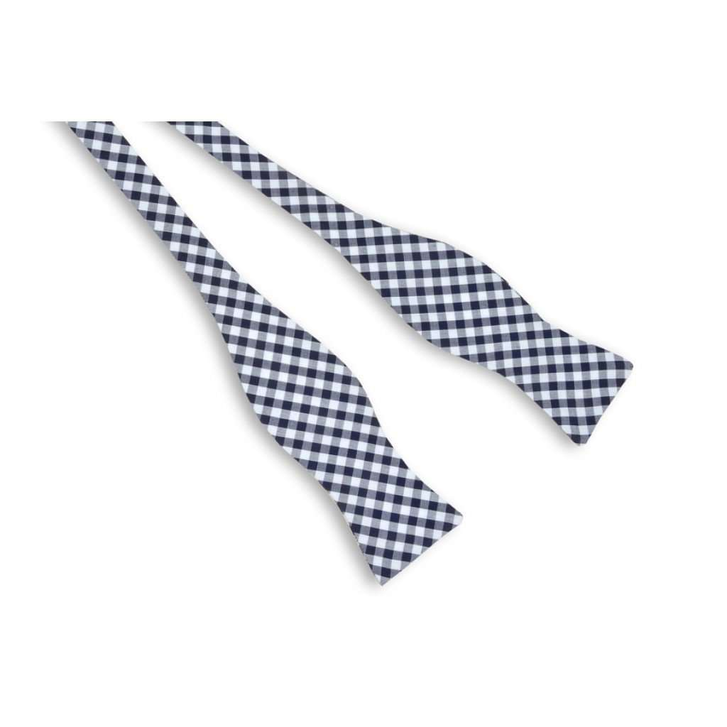 Bow Ties - Navy Gingham Check Bow Tie By High Cotton
