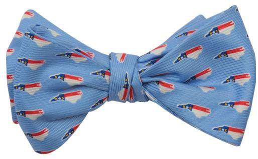 North Carolina Traditional Bowtie in Carolina Blue by State Traditions and Southern Proper - Country Club Prep