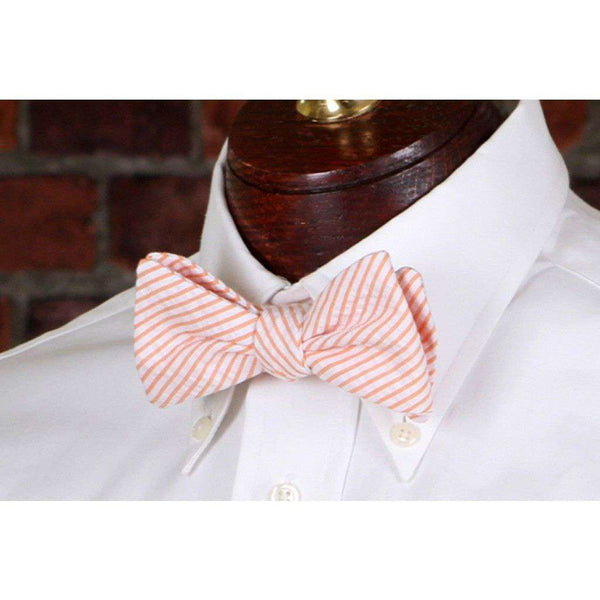 Orange Seersucker Stripe Bow Tie by High Cotton