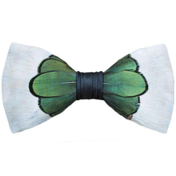Bow Ties - Original Feather Bow Tie In Roosevelt By Brackish Bow Ties