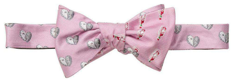 Bow Ties - Oyster And Hot Sauce Bow Tie In Pink By Southern Proper