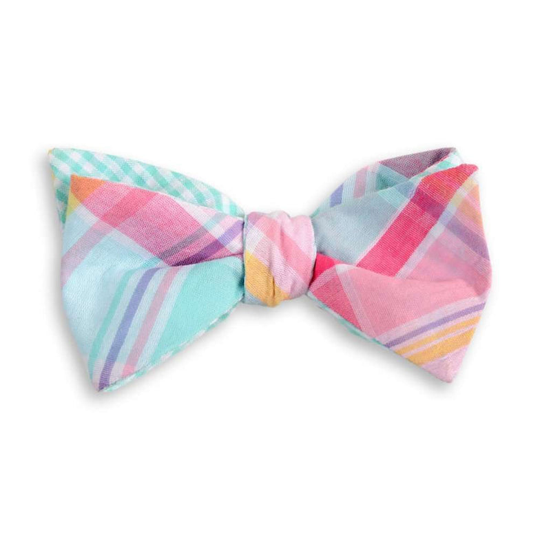 Palmetto Madras Plaid Reversible Bow Tie by High Cotton