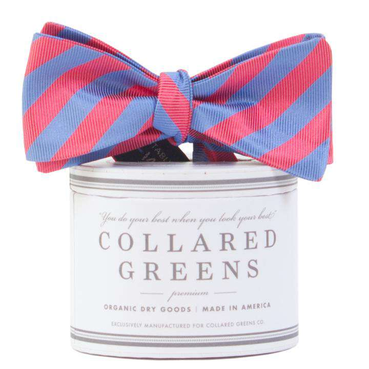 Bow Ties - Parlay Bow In Salmon/Blue By Collared Greens