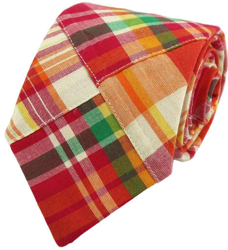 Bow Ties - Patchwork Madras Tie In Charlevoix By Just Madras