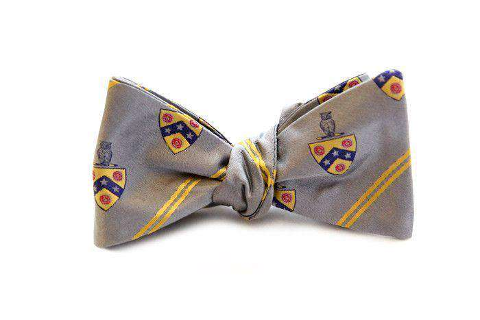Bow Ties - Phi Gamma Delta (FIJI) Bow Tie In Silver By Dogwood Black