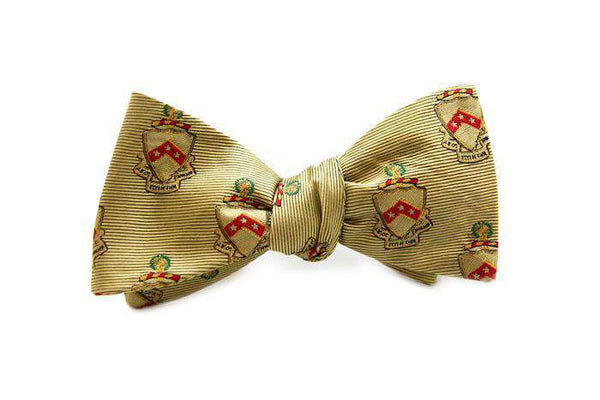 Bow Ties - Phi Kappa Tau Bow Tie In Gold By Dogwood Black