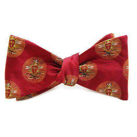 Bow Ties - PIKE Bow Tie In Garnet Red By Dogwood Black
