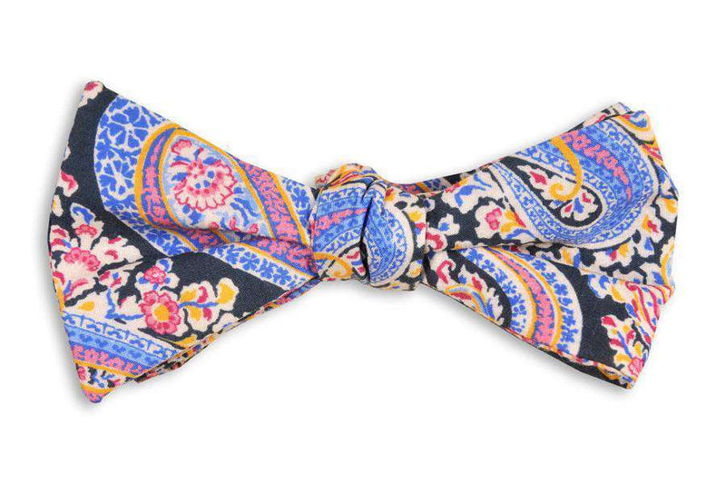 Bow Ties - Pimm's Paisley Bow Tie In Navy By High Cotton