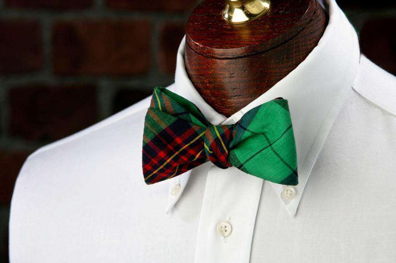 Bow Ties - Pinehurst Plaid Bow Tie In Madras Plaid By High Cotton