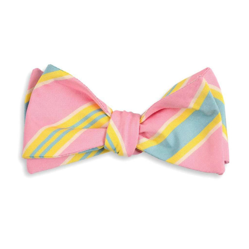 Bow Ties - Pink Maybank Stripe Bow Tie By High Cotton