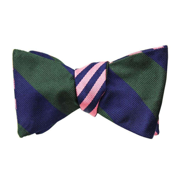 Pink/Navy and Forest Green/Navy Bow Tie by Social Primer - FINAL SALE
