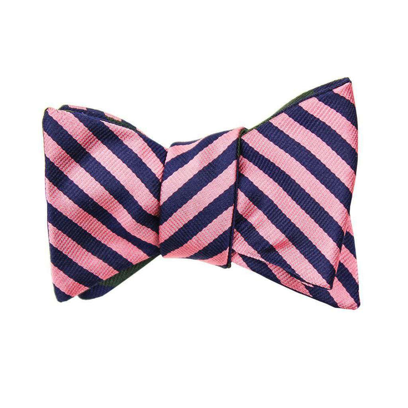 Bow Ties - Pink/Navy And Forest Green/Navy Bow Tie By Social Primer - FINAL SALE