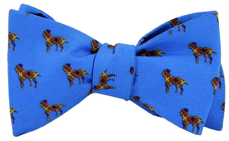 Bow Ties - Plaid Lab Bow Tie In Blue By Southern Proper