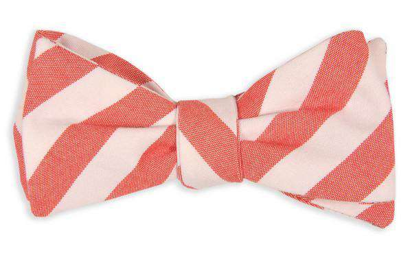 Bow Ties - Red And White Oxford Stripe Bow Tie By High Cotton
