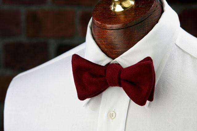 Bow Ties - Red Oak Woolie In Red By High Cotton